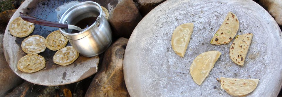 Tortillas em Teotihuacan, México
